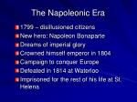 the napoleonic era
