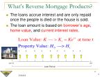 what s reverse mortgage products