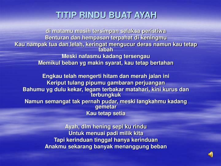 TITIP RINDU BUAT AYAH