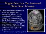 doppler detection the automated planet finder telescope