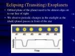 eclipsing transiting exoplanets