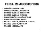feria 20 agosto 1936