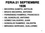 feria 21 septiembre 1936