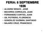 feria 8 septiembre 1936