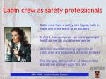 cabin crew as safety professionals