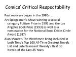 comics critical respectability