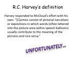 r c harvey s definition