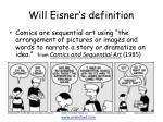 will eisner s definition
