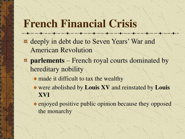 french financial crisis n.
