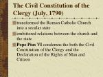 the civil constitution of the clergy july 1790