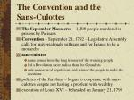 the convention and the sans culottes