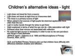children s alternative ideas light