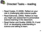 directed tasks reading
