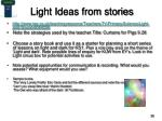 light ideas from stories