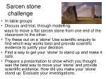 sarcen stone challenge