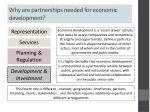 why are partnerships needed for economic development
