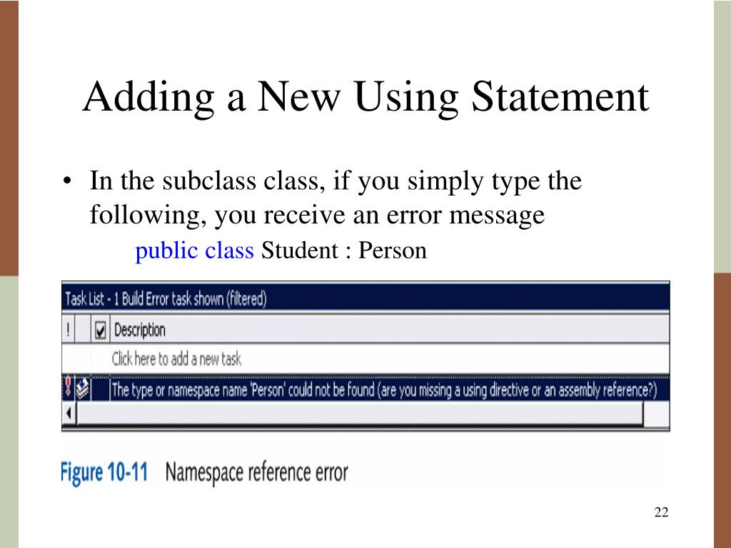 Adding a New Using Statement