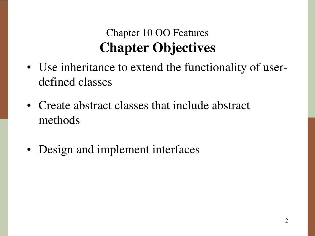 Chapter 10 OO Features