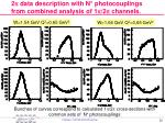 2 p data description with n photocouplings from combined analysis of 1 p 2 p channels