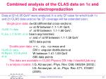 combined analysis of the clas data on 1 p and 2 p electroproduction