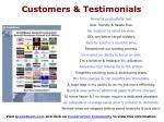 customers testimonials