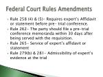 federal court rules amendments