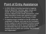 point of entry assistance1