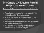 the ontario civil justice reform project recommendations