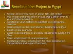 benefits of the project to egypt