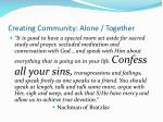 creating community alone together1