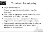 technique interviewing