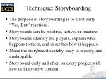 technique storyboarding