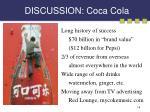 discussion coca cola