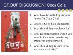 group discussion coca cola