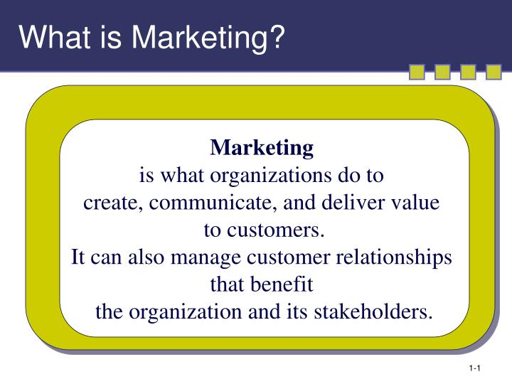 what is marketing n.