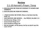 review 2 1 10 hannah s prayer song
