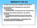 mission of the coe