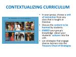 contextualizing curriculum