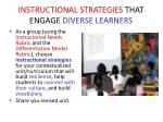 instructional strategies that engage diverse learners