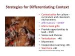 strategies for differentiating context