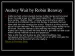 audrey wait by robin benway