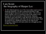 i am scout the biography of harper lee