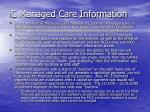 ic managed care information