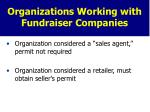 organizations working with fundraiser companies