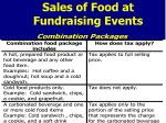 sales of food at fundraising events1