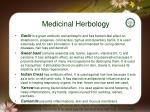 medicinal herbology