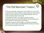 the old mountain treasury