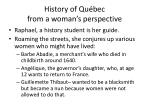history of qu bec from a woman s perspective