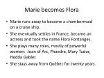 marie becomes flora