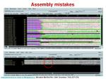 assembly mistakes